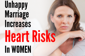 Unhappy Marriage increase Heart risks in women